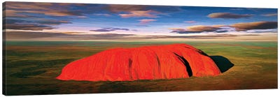 Ayers Rock Aerial Pano Canvas Art Print