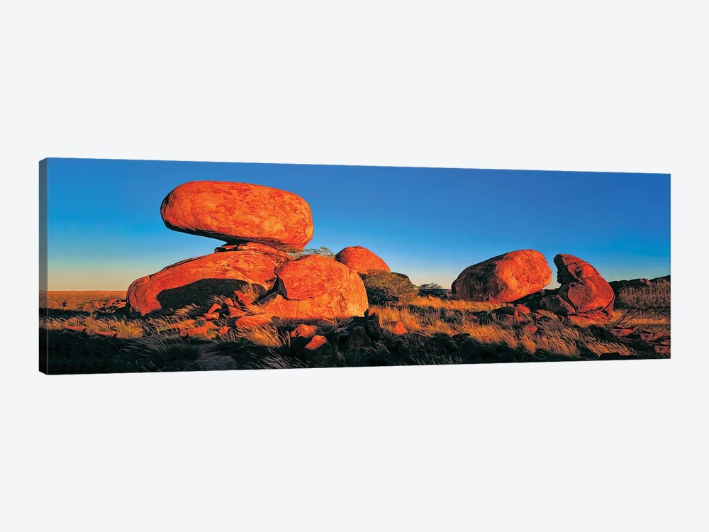 Devils Marbles Panorama by Peter Walton 1-piece Canvas Artwork