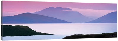 Lake Pedder Pastel Panorama Canvas Art Print