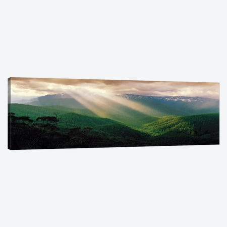 High Country God Beams Canvas Print #PEW34} by Peter Walton Canvas Wall Art