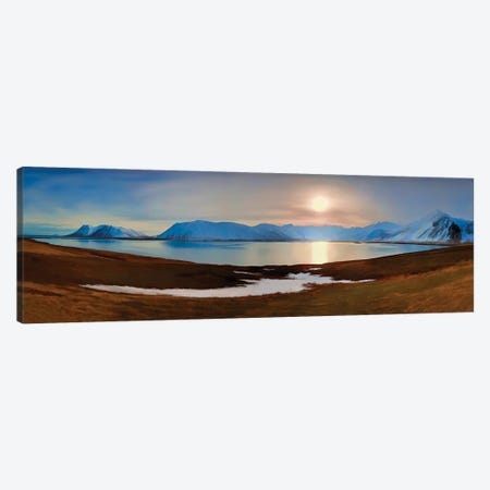 Icelandic Sunset Canvas Print #PEW41} by Peter Walton Canvas Wall Art