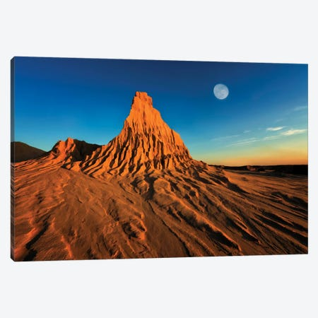 Moon Over Mungo Canvas Print #PEW49} by Peter Walton Canvas Wall Art