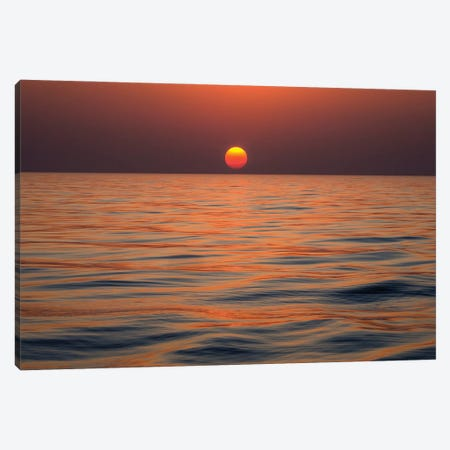 Baltic Sea Sunset Canvas Print #PEW4} by Peter Walton Canvas Art