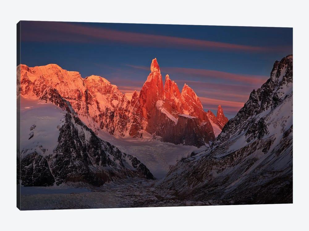 Patagonian Peaks by Peter Walton 1-piece Canvas Art Print