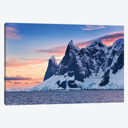 Sunset In Antarctica 3-Piece Canvas #PEW81} by Peter Walton Canvas Art