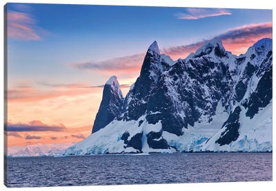 Sunset In Antarctica Canvas Art Print