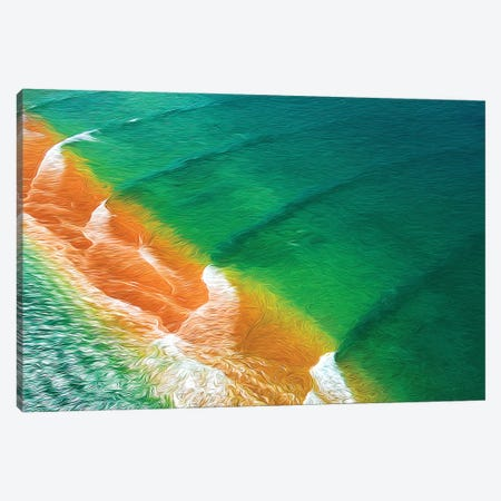 Waveforms Canvas Print #PEW88} by Peter Walton Canvas Wall Art