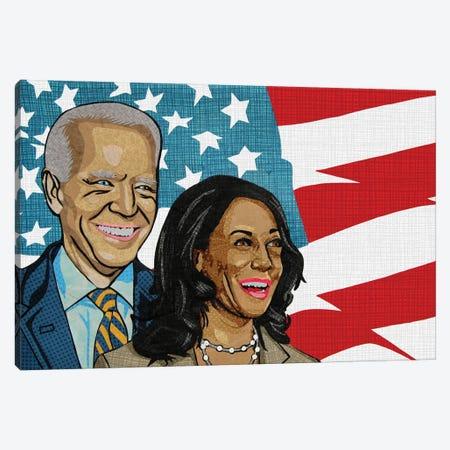 Biden Harris Canvas Print #PFP10} by Pop Fabric Posters by Ali Scher Canvas Wall Art