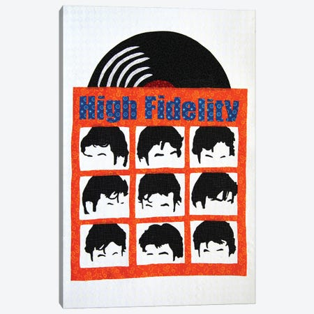 High Fidelity Canvas Print #PFP28} by Pop Fabric Posters by Ali Scher Art Print