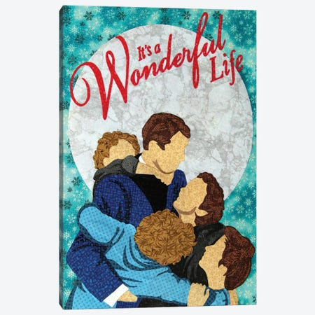 It's A Wonderful Life Canvas Print #PFP31} by Pop Fabric Posters by Ali Scher Canvas Wall Art