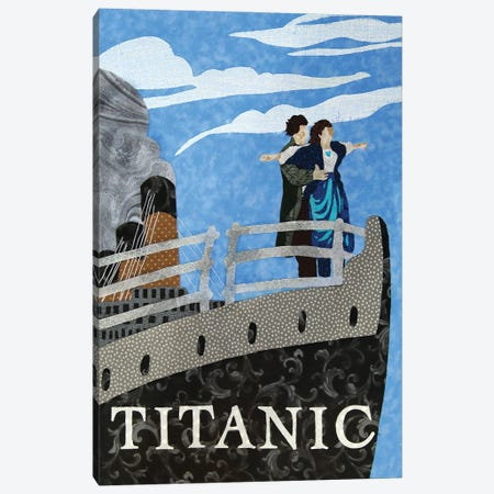 Titanic Canvas Print #PFP84} by Pop Fabric Posters by Ali Scher Canvas Art