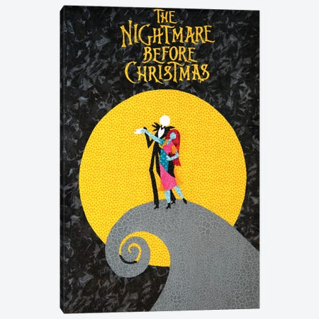 Nightmare Before Christmas Canvas Print #PFP90} by Pop Fabric Posters by Ali Scher Canvas Artwork