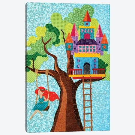 Treehouse Castle - Castle Series Canvas Print #PFP96} by Pop Fabric Posters by Ali Scher Canvas Art Print