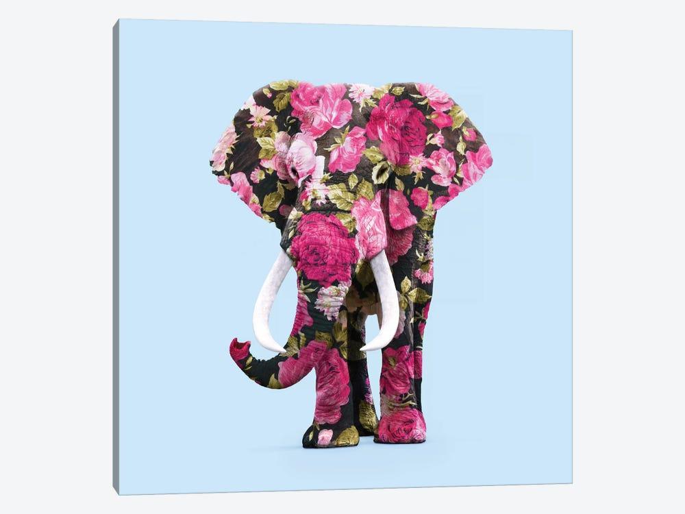 Floral Elephant by Paul Fuentes 1-piece Canvas Art Print