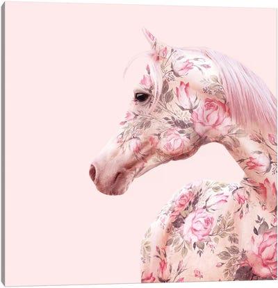 Floral Horse Canvas Art Print
