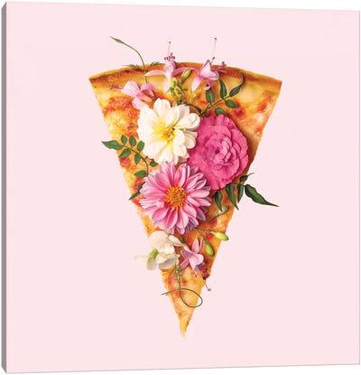 Floral Pizza Canvas Art Print