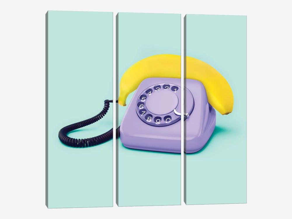 Hello Banana by Paul Fuentes 3-piece Canvas Art
