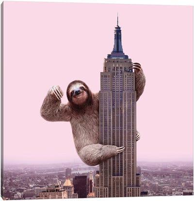 King Sloth Canvas Art Print