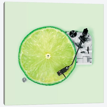 Lemon DJ Canvas Print #PFU26} by Paul Fuentes Canvas Art Print