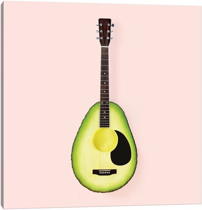 Avocado Guitar Canvas Art Print