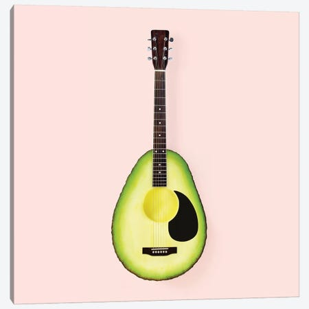 Avocado Guitar Canvas Print #PFU2} by Paul Fuentes Canvas Art