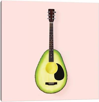 Avocado Guitar Canvas Art Print