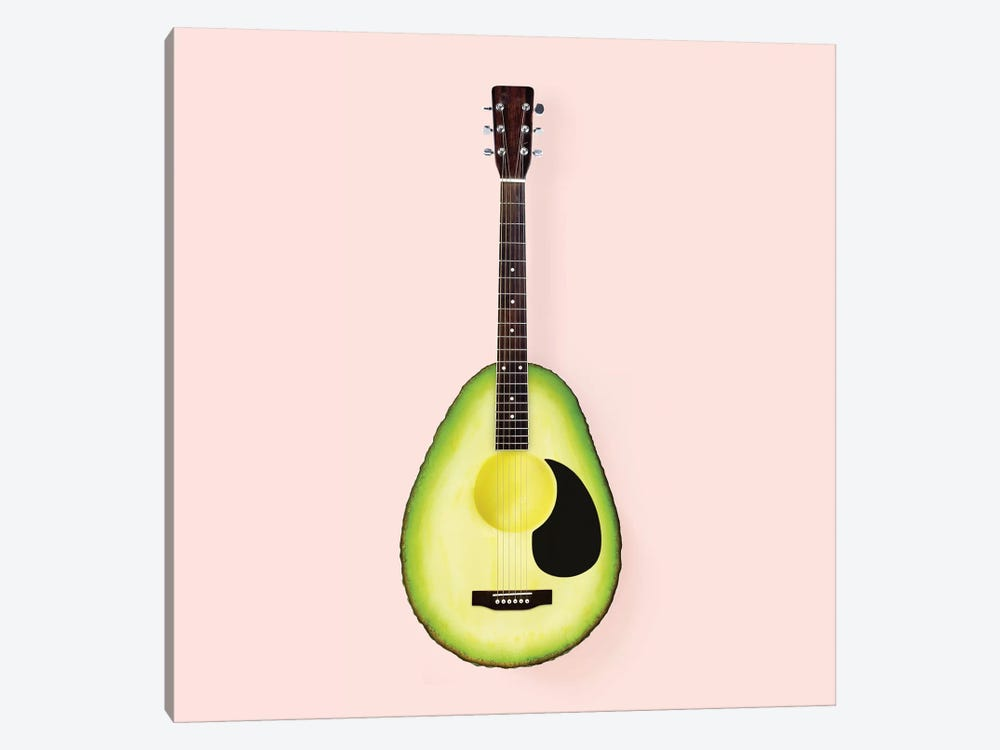 Avocado Guitar by Paul Fuentes 1-piece Canvas Artwork