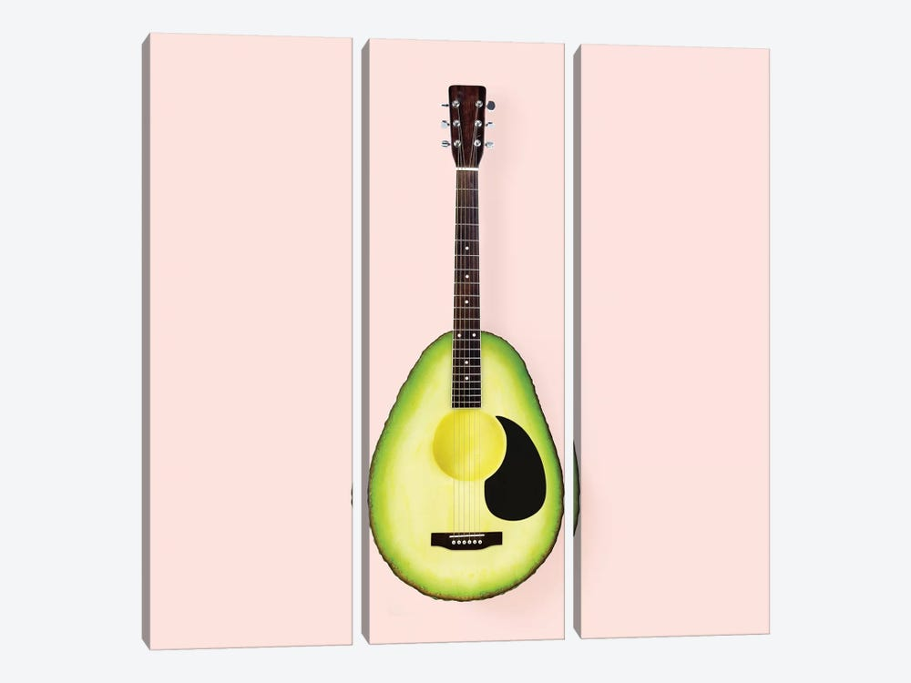 Avocado Guitar by Paul Fuentes 3-piece Canvas Artwork