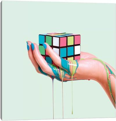 Melting Rubik Canvas Art Print