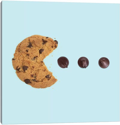 Pacman Cookie Canvas Art Print