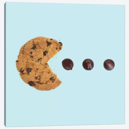 Pacman Cookie Canvas Print #PFU35} by Paul Fuentes Canvas Art