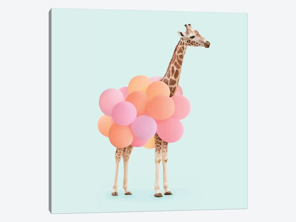 Party Giraffe by Paul Fuentes 1-piece Canvas Art Print