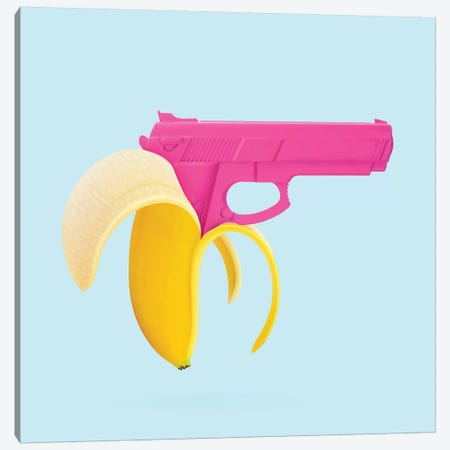 Banana Gun Canvas Print #PFU3} by Paul Fuentes Canvas Wall Art