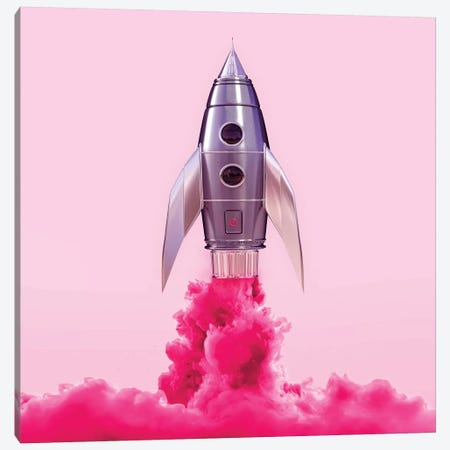 Pink Rocket Canvas Print #PFU41} by Paul Fuentes Canvas Art