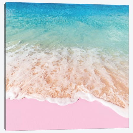 Pink Sea Canvas Print #PFU42} by Paul Fuentes Canvas Art
