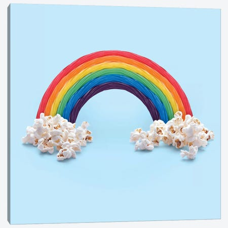 Rainbow Candy 3-Piece Canvas #PFU47} by Paul Fuentes Art Print