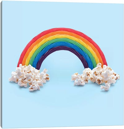 Rainbow Candy Canvas Art Print
