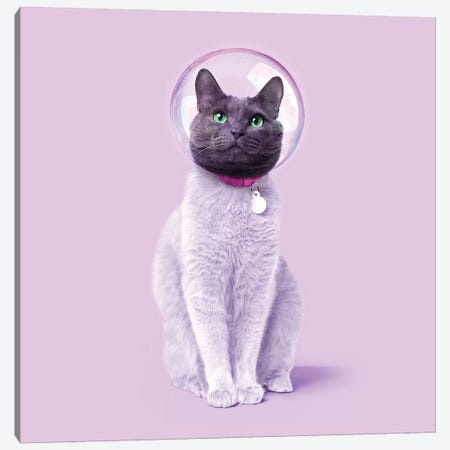 Space Cat Canvas Print #PFU49} by Paul Fuentes Canvas Wall Art