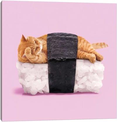 Sushi Cat Canvas Art Print