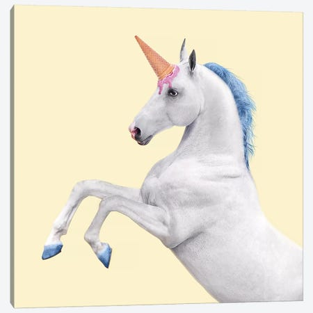 Unicorn 3-Piece Canvas #PFU55} by Paul Fuentes Canvas Artwork