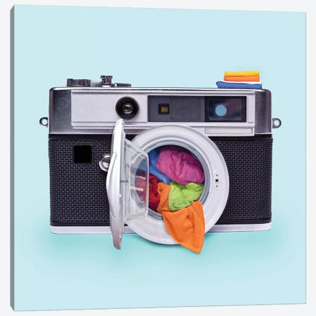 Washing Camera Canvas Print #PFU57} by Paul Fuentes Canvas Artwork