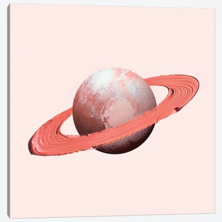 Saturn Stroke Canvas Print #PFU65} by Paul Fuentes Canvas Art Print