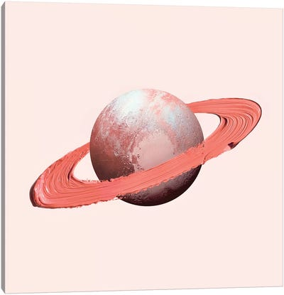 Saturn Stroke Canvas Art Print
