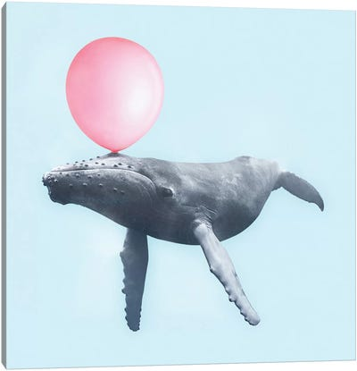 Bubblegum Whale Canvas Art Print