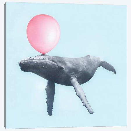 Bubblegum Whale Canvas Print #PFU6} by Paul Fuentes Canvas Art Print