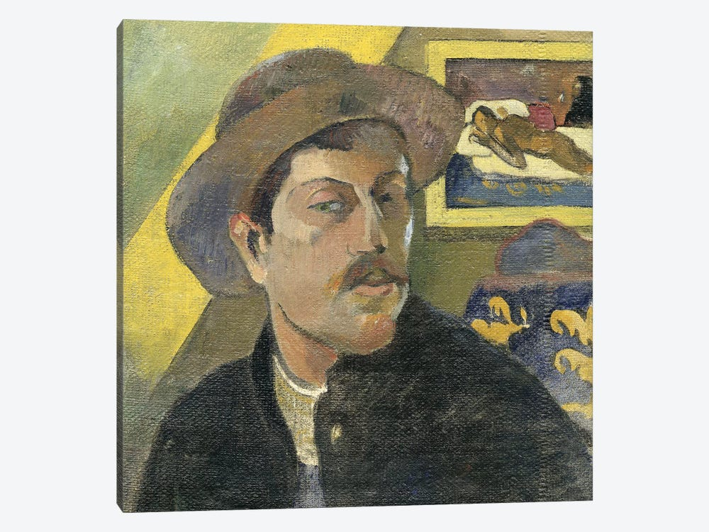 Self Portrait With A Hat by Paul Gauguin 1-piece Canvas Print