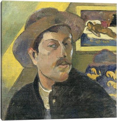 Self Portrait With A Hat Canvas Art Print