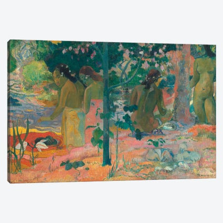 The Bathers Canvas Print #PGG3} by Paul Gauguin Canvas Artwork