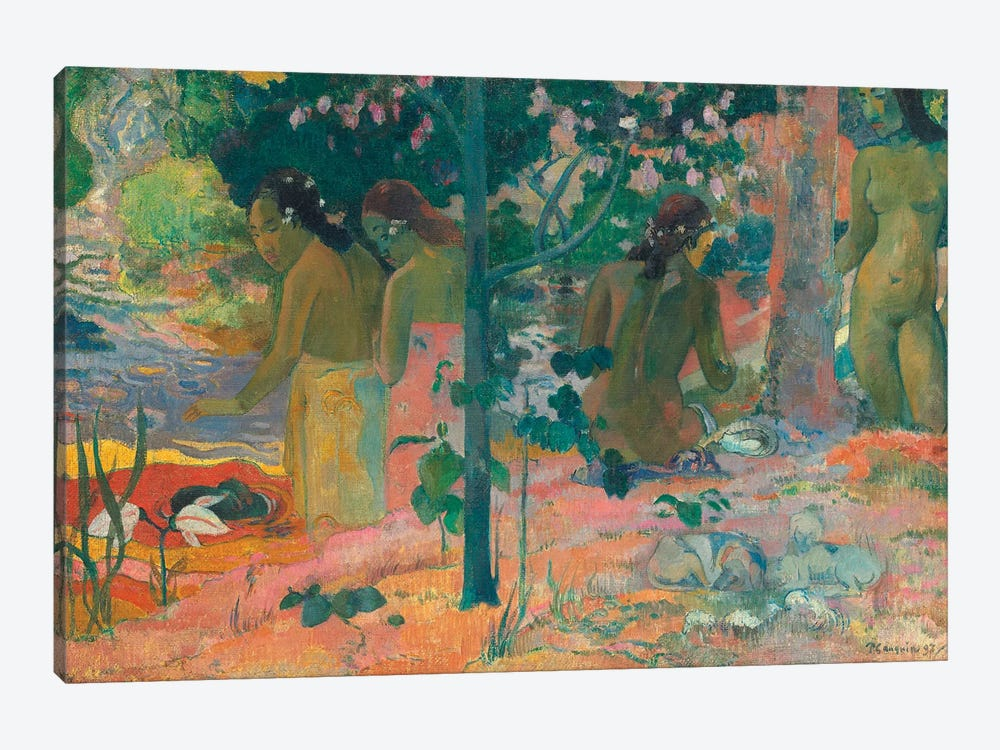 The Bathers by Paul Gauguin 1-piece Canvas Wall Art