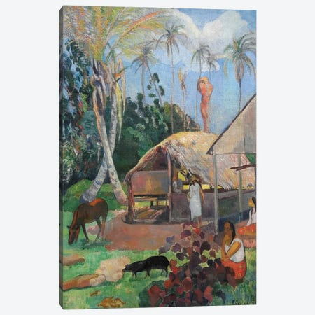 The Black Pigs Canvas Print #PGG5} by Paul Gauguin Art Print